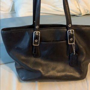 Coach.  Authentic. Black leather bag.